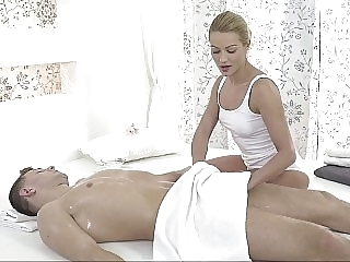 gorgeous massage Blonde's secret urges