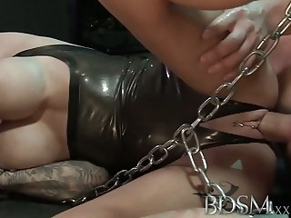 big boobs hardcore BDSM XXX Big breasted subs get chained up slapped and fucked
