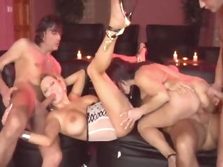 milf group sex Swingin' Mom's Coitus Party (full movie)